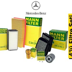 Mann Mercedes Sprinter Euro 5 4'lü Filtre Seti
