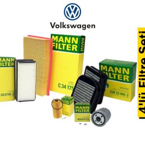 Mann Volkswagen Passat 1.6 TDI 88kW 2014-18 4'lü Filtre Seti