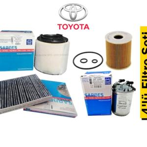 Sardes Toyota Corolla 1.4 4-D4 66kW Benzinli 2013-18 4'lü Filtre Seti